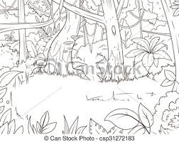 Jungle Clipart Line Drawing 10