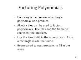 factoring with algebra tiles ppt
