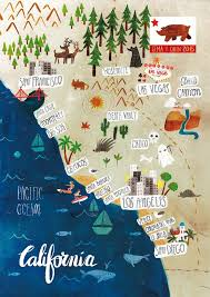 Illustrated Map Of California On Behance