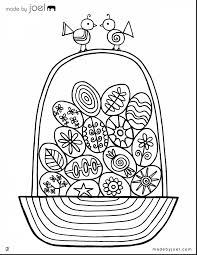 Unbelievable Easter Egg Basket Coloring Sheet With Eggs Pages And