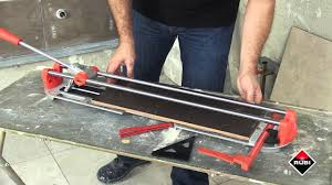 Rubi Tile Cutter Wheels by Rubi Manual Star Max Tile Cutter Youtube