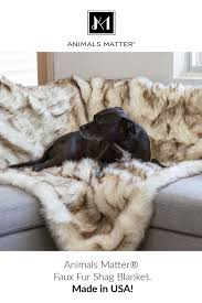 luxurious faux fur shag blanket vegan cruelty free non