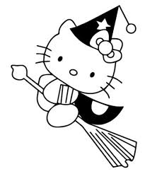 Hello Kitty Flying On Broom