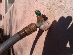 outdoor faucet handle won t close water restricts flow then