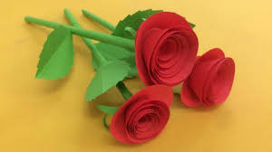 How To Make Small Rose Flower With Paper