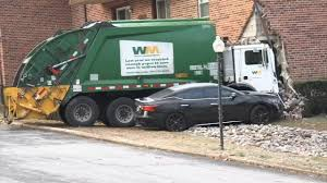 100 Truck Wrecks Videos Trash Truck Crashes Into Side Of Apartment Building In Havertown