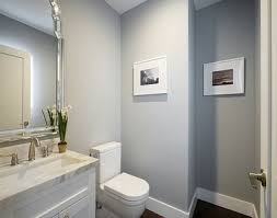 bathroom with light gray walls white trim ideas