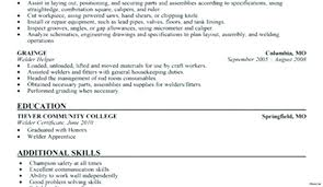 Welder Resume Objective Examples Sample Download Welding Practicable Amazing Resumes B