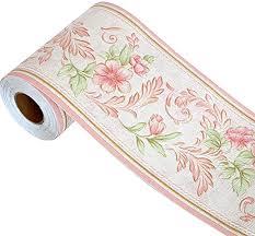 hyfanstr tapete bordüre selbstklebend bordüren rosenmuster wandtattoo bordüre wasserdichte bad bordüre aufkleber dekoration für wohnzimmer badezimmer