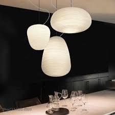 nordic kreative anhänger leuchtet milchig weiß glas whorls