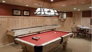Rustic Log Pool Table Gameroom