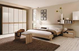 Sweet Natural Colors For Bedroom At Interior Rustic With Bench Stand On Chocolate Shag Rug