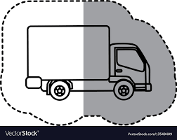 Figure Trucks Trailer Icon Royalty Free Vector Image