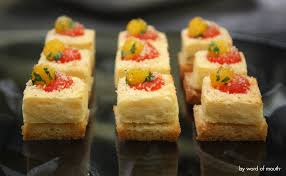 baked canapes canape omelette manchego and white souffle