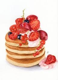 Drawn pancake watercolor 4