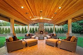 Outdoor covered patio ideas patio contemporary with ceiling fan