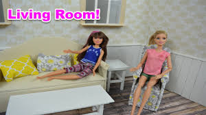 Barbie Fashion Living Room Set by How To Make Barbie Living Room Furniture A Diy Youtube