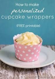 How To Make DIY Cupcake Wrappers FREE Printable