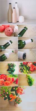 Step By Idea For Making Bottle Flower Vase With Easy Plastic Crafts