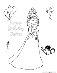 Happy Birthday Barbie S78a7 Coloring Pages