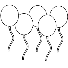 Birthday Balloons Counting How Many Colouring Page