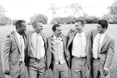 Simple Grey Suits For The Groom Groomsmen
