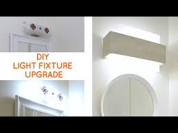 bathroom lighting fix to update a dated bathroom vanity