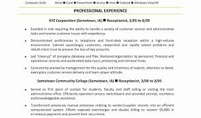 Front Desk Receptionist Curriculum Vitae by Medical Office Receptionist Sample Resume Unique Medical