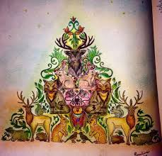 Adult Coloring Books Colouring Johanna Basford Book Stuff Mandala Painting Triangle Art Therapy Secret Gardens