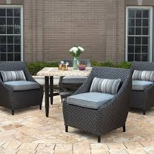 Gardenline Outdoor Furniture Cover by Exterior Black Wicker Wingback Chairs With Cushions And Lazy Boy