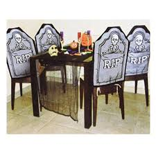 Buy Halloween RIP Tombstone Chair Cover Decoration - 4 Piece ... Witch Chair Cover By Ryerson Annette 21in X 26in Project Sc Rectangle Table Halloween Skull Pattern Printed Stretch For Home Ding Decor Happy Wolf Cushion Covers Trick Or Treat Candy Watercolor Pillow Cases X44cm Sofa Patio Cushions On Sale Outdoor Chaise Rocking For Halloweendiy Waterproof Pumpkinskull Prting Nkhalloween Pumpkin Throw Case Car Bed When You Cant Get Enough Us 374 26 Offhalloween Back Party Decoration Suppliesin Diy Blackpatkullcrossboneschacoverbihdayparty By Deal Hunting Diva Print Slip