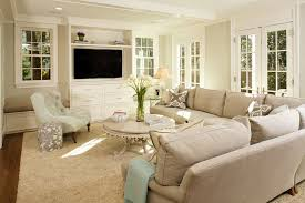 Benjamin Moore Gray Owl For A Traditional Living Room With Crown Molding And Green