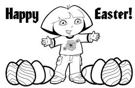 Dora Easter Coloring Pages