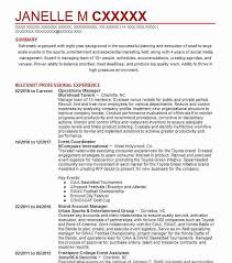 12434 Event Planning And Coordination Resume Examples