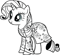 My Lil Pony Coloring Pages Unicorn Little