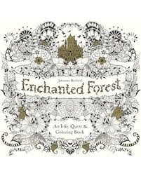 Enchanted Forest An Inky Quest And Coloring Book Turtleback School Library Binding Edition