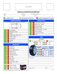 100 Truck Inspection Checklist Vehicle Sheet Template Cvif Great Form