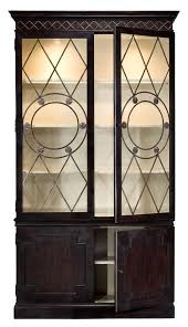 china cabinet solid knotty oak finish lighted interior