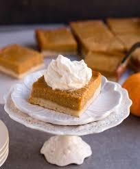 Pumpkin Pie Evaporated Milk Brown Sugar by Pumpkin Pie Shortbread Bars The Merchant Baker