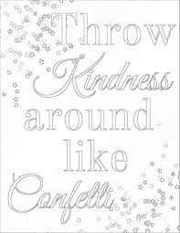 Kindness Coloring Pages Free In