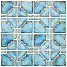 Home Depot Merola Penny Tile by Blue Mosaic Tile Tile The Home Depot