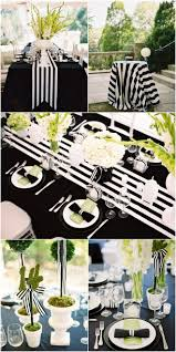 My Black and White Striped Wedding
