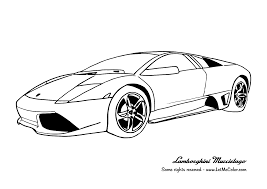 Cars Coloring Page Lamborghini Murcielago