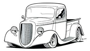 Old Car Coloring Pages Marvelous Classic Online Truck Printable Kids Colouring