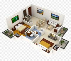 104 Two Bedroom Apartment Design Luxury 2 S Idea Come Interior 3d Plan Free Transparent Png Clipart Images Download