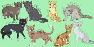 warrior cat warrior cat chibis by climbtothestars on deviantart