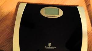 Eatsmart Precision Digital Bathroom Scale Manual by Review Of Deco Brothers Digital Bathroom Scale Youtube