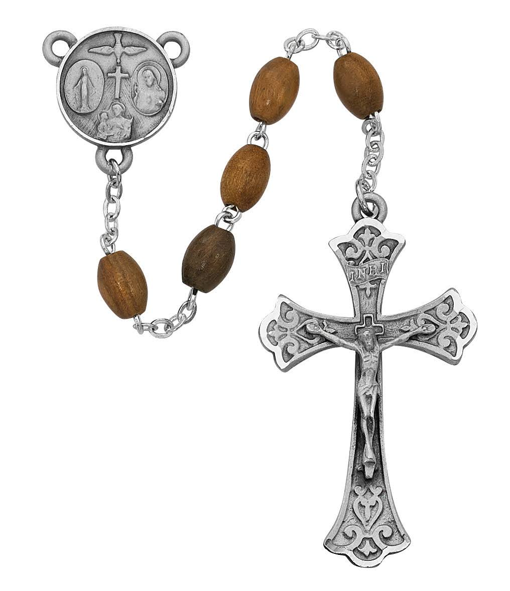 Oval Olive Wood Rosary