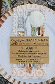 Personalised Wedding Menu And Thank You Cards