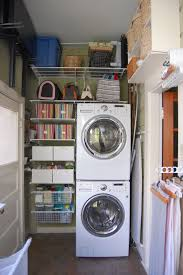 Tiny Organized Laundry Space With Stacked Washer And Dryer Pooksa Girl Mudroom